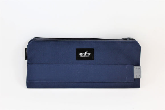 Ripstop Navy Double Pencil Bag