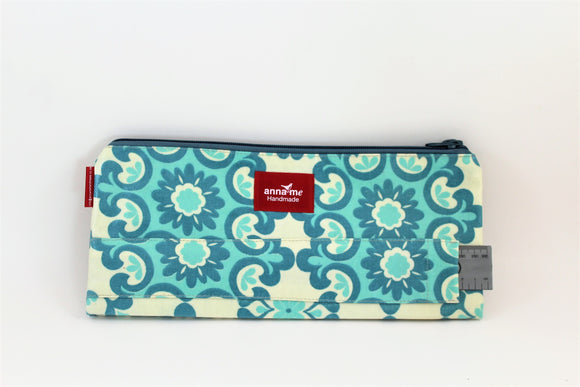 Blue Mandala Double Pencil Bag