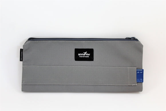 Ripstop Grey Double Pencil Bag