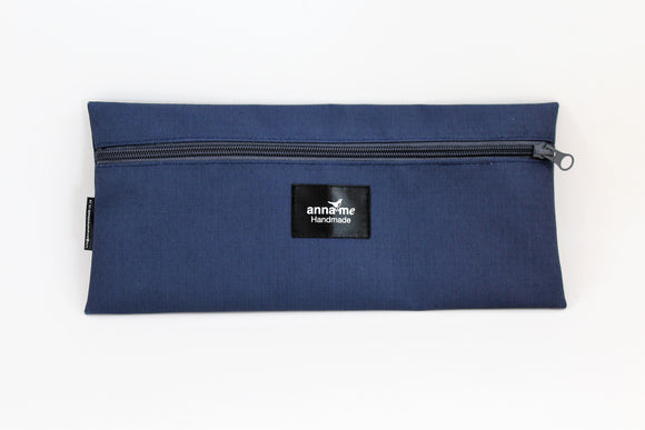 Ripstop Navy Single Pencil Bag