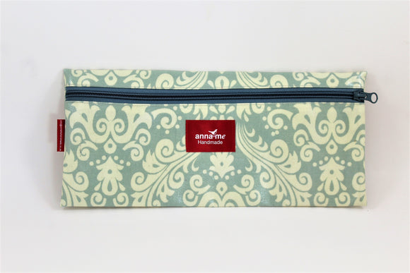 Faded Grey Single Pencil Bag