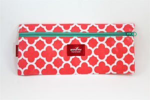 Coral Single Pencil Bag