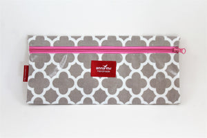Grey Single Pencil Bag