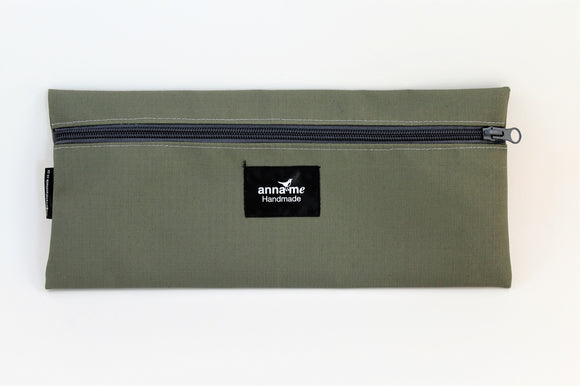 Ripstop Khaki Single Pencil Bag