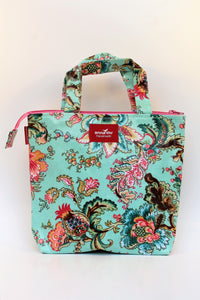 Blue Floral Lunch Bag