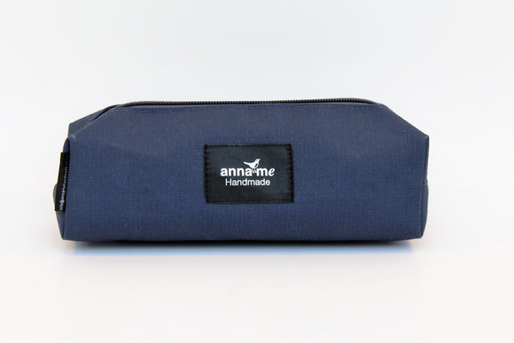 Ripstop Navy Box Pencil Bag