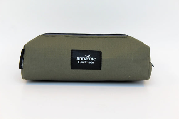 Ripstop Khaki Box Pencil Bag
