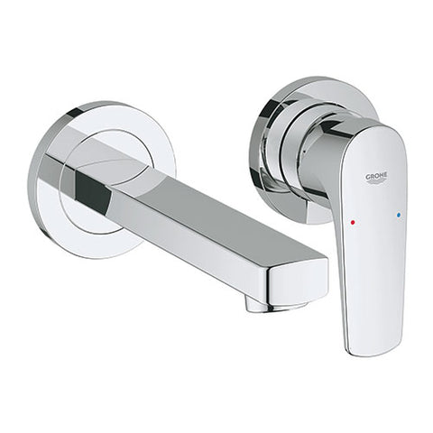 BauFlow Wall Mounted Basin Mixer with Spout