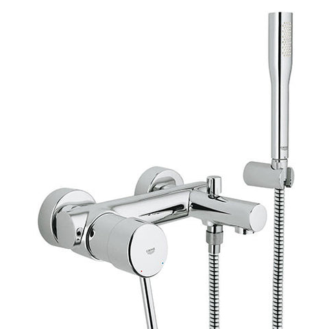 Concetto Exposed Bath Mixer with Hand Shower