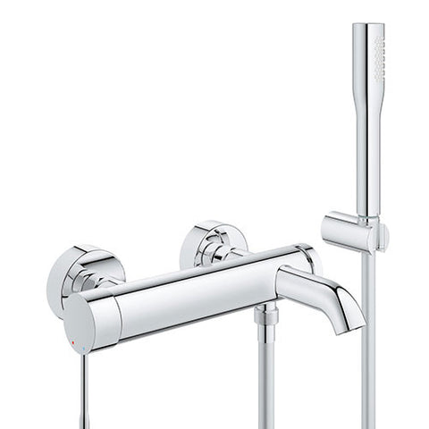 Essence Wall Mounted Bath Mixer with Hand Shower Set