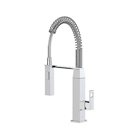 Eurocube Professional Kitchen Sink Mixer With Spring Swivel Arm
