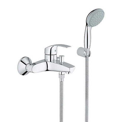 Eurosmart Single Lever Bath Mixer with Hand Shower Set