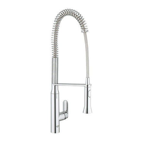 K7 Professional Single Lever Kitchen Sink Mixer with High Spout Spring Swivel Arm