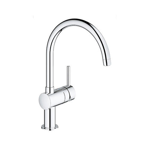 Minta Single Lever Kitchen Sink Mixer with Swivel C-Spout