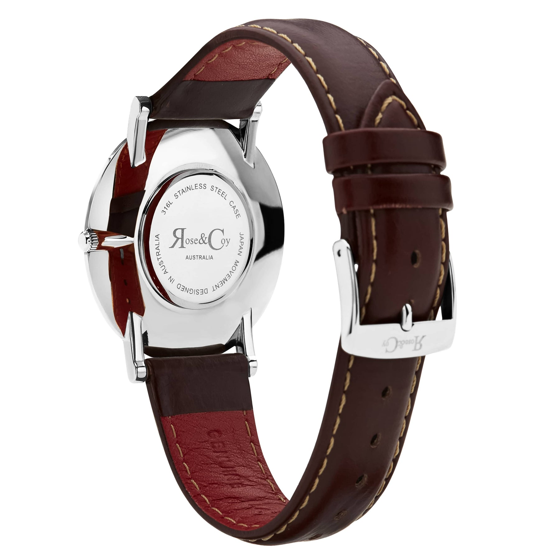 Pinnacle Ultra Slim 40mm Silver | Dark Brown Leather | Blue Sunray Dial Watch