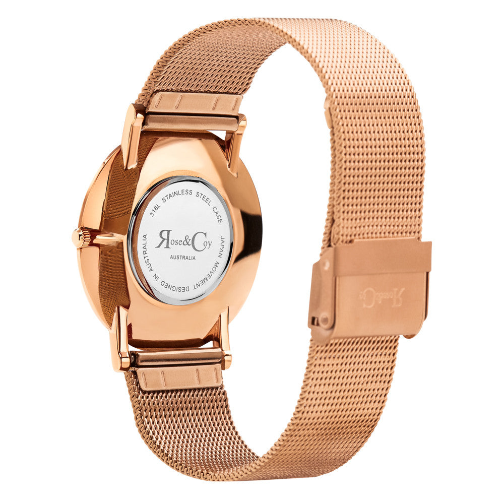 Pinnacle Ultra Slim 40mm Rose Gold | Mesh Strap Watch