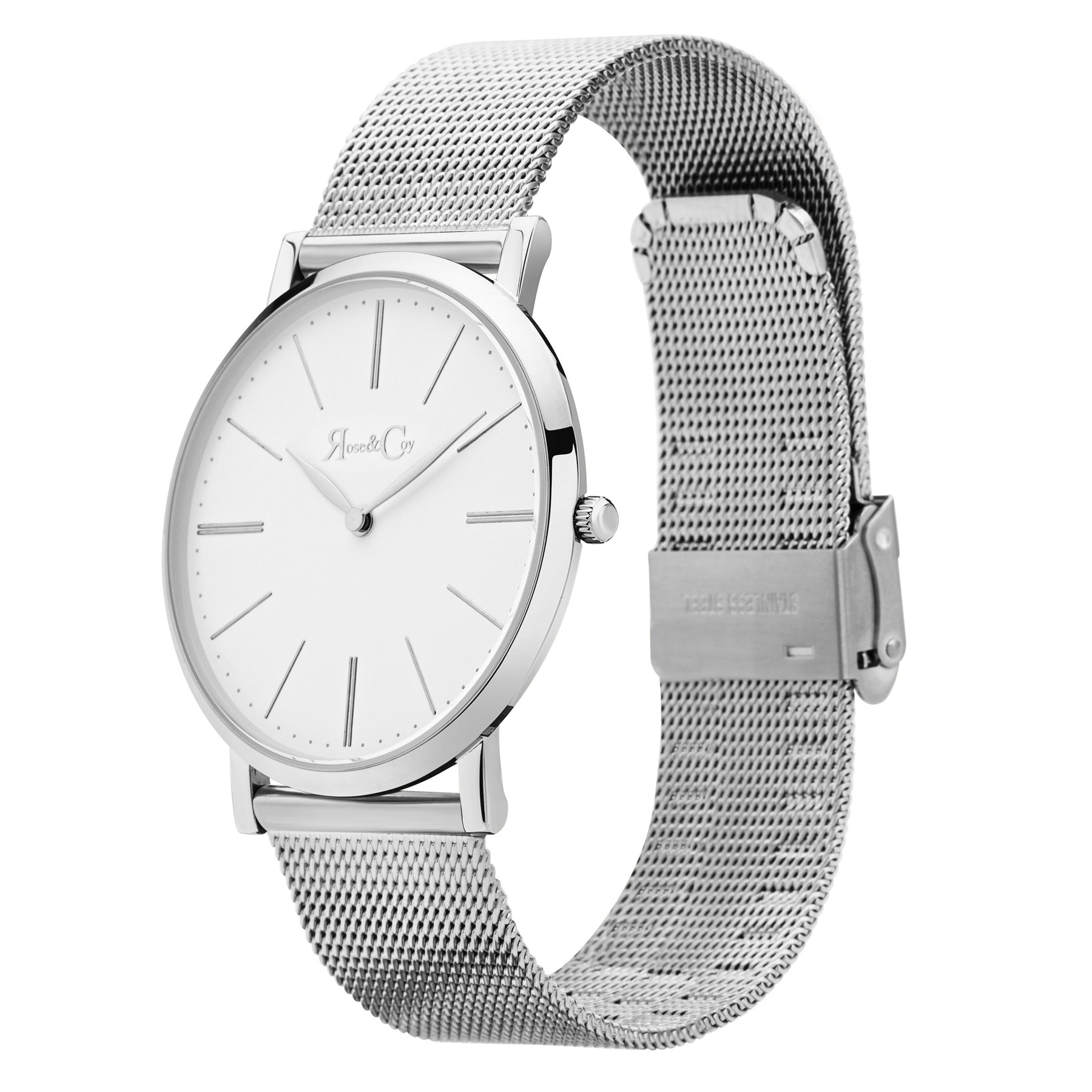 Pinnacle Ultra Slim 40mm Silver | Mesh Strap Watch