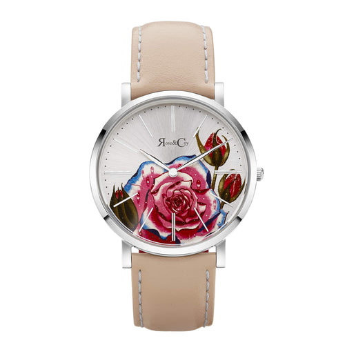 Art Series Pink Rose Ultra Slim 40mm Silver | Peach Watch