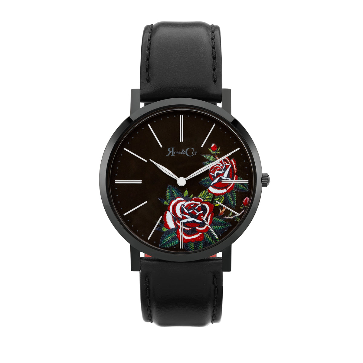 Midnight Red Rose Ultra Slim 40mm Black Watch