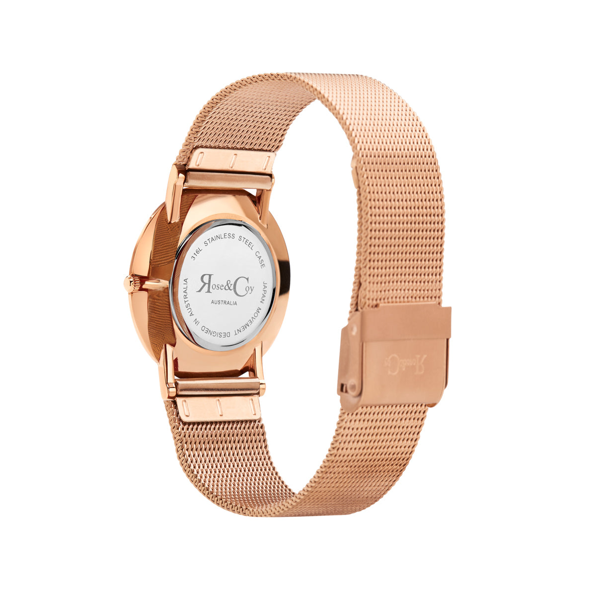 Art Series Golden Red Rose Ultra Slim 30mm Rose Gold | Mesh Strap Watch