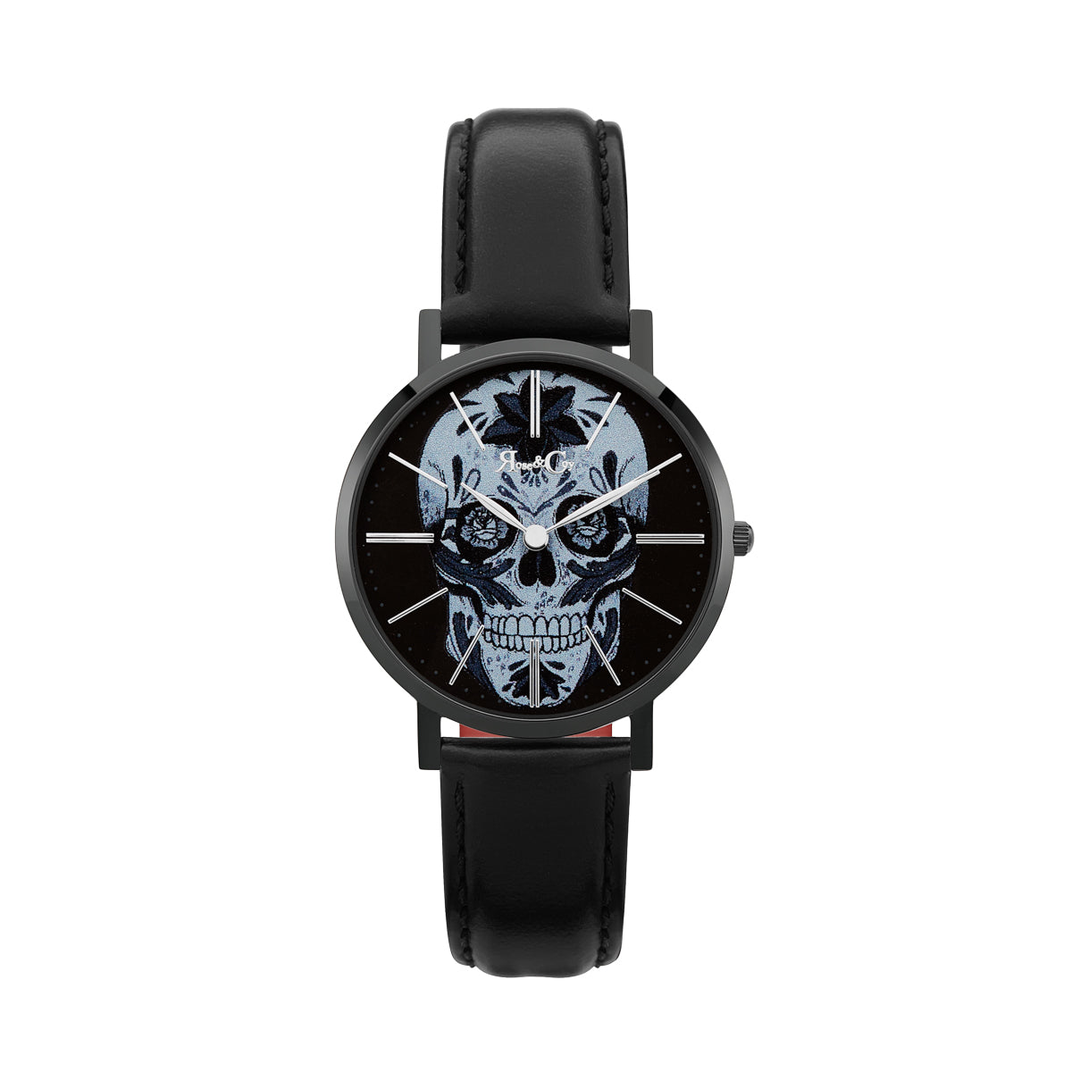 Midnight Sugar Skull Ultra Slim 34mm | Black Watch