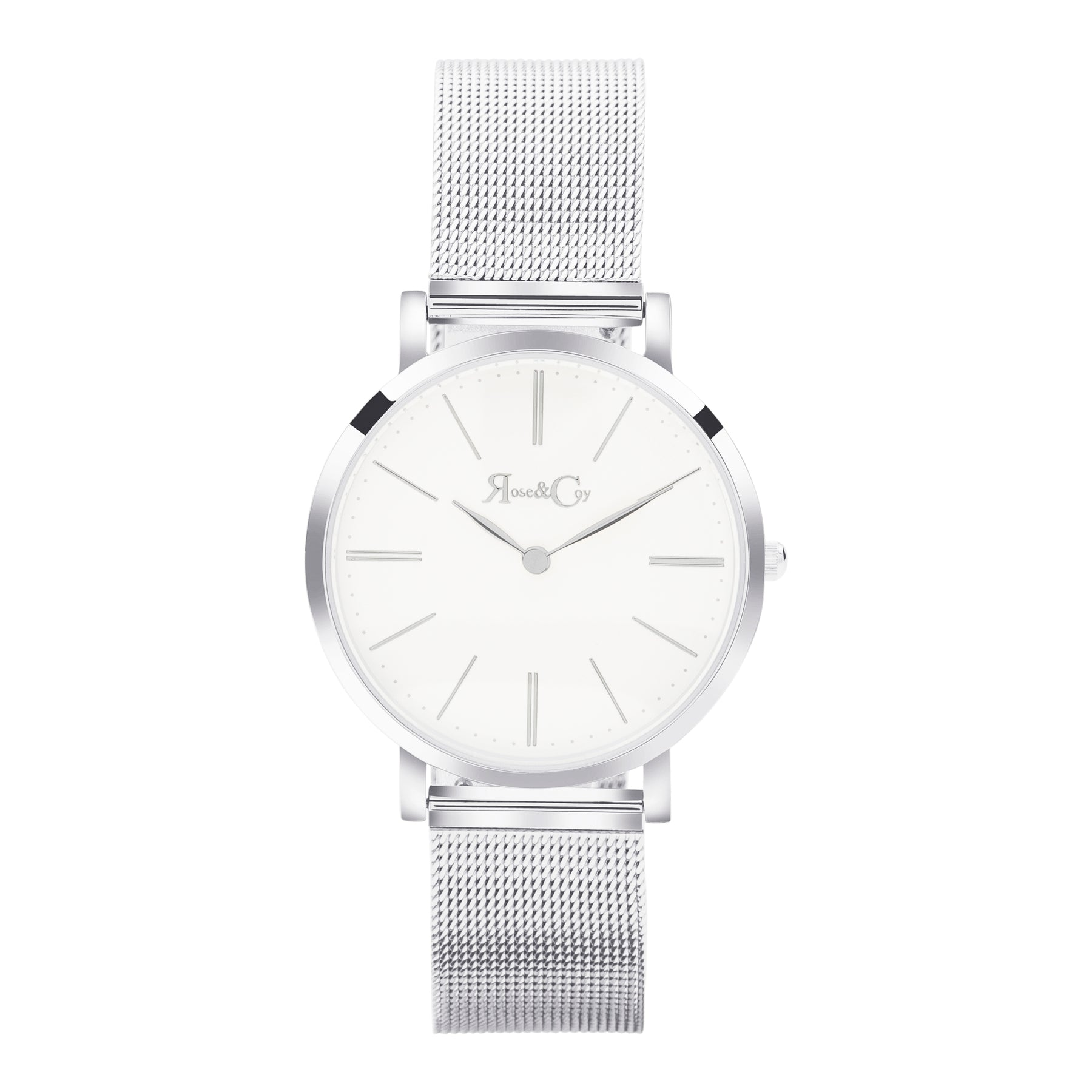 Mini Pinnacle Ultra Slim 34mm Silver | Mesh Strap Watch