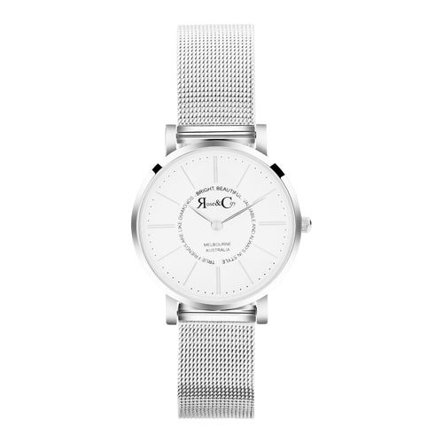 True friends 30mm Silver | Mesh Strap Watch