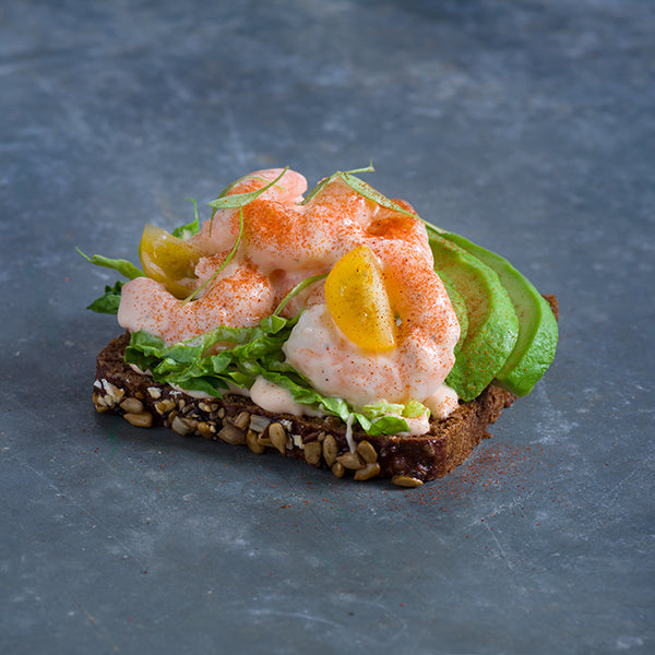 Tiger Prawn & Avocado on Rye
