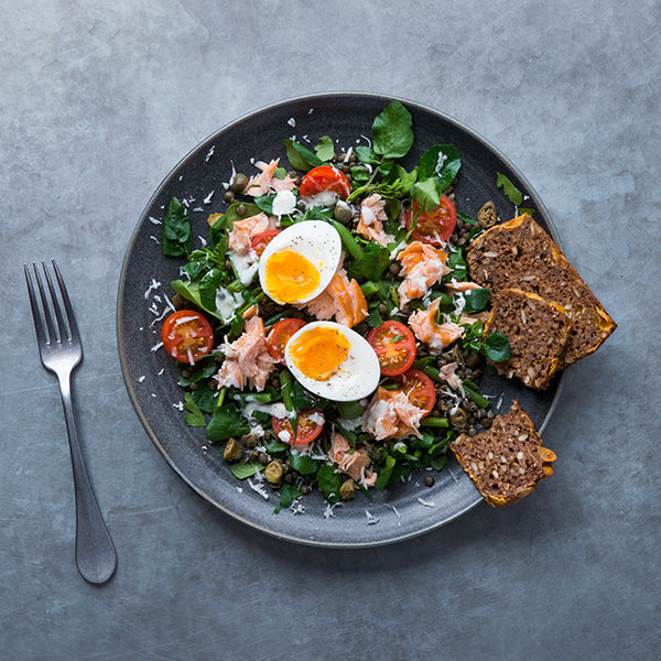 Roasted Smoked Salmon & Puy Lentil Salad