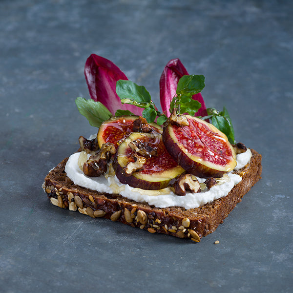 Fig & Whipped Goats Curd on Rye