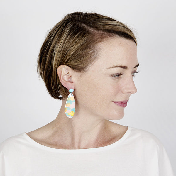 Origial art + resin statement earrings