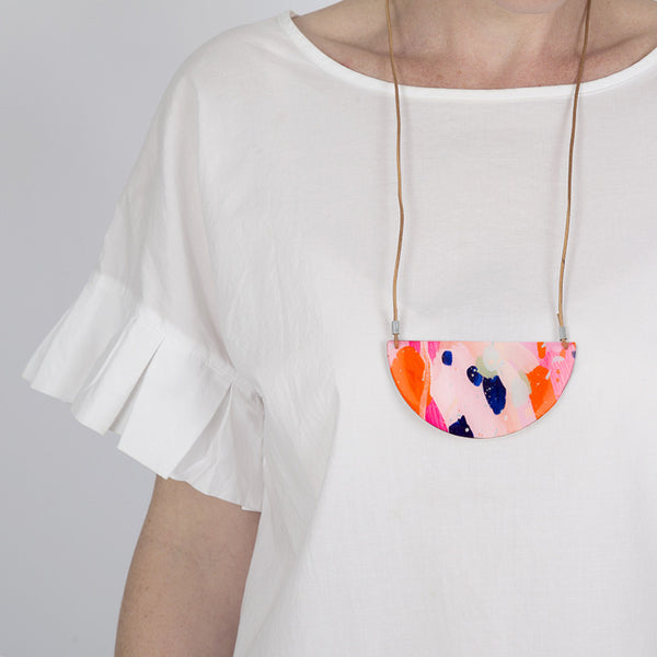 Original art + resin statement necklaces