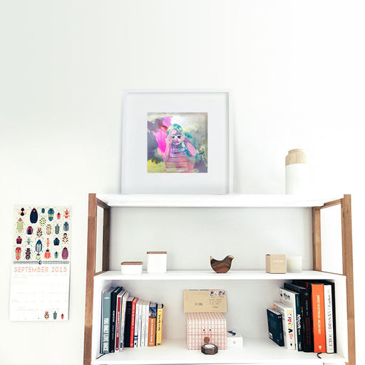 Lily painting - Art Print, by Shannon O'Neill - Australian Artist, framed in IKEA Frame