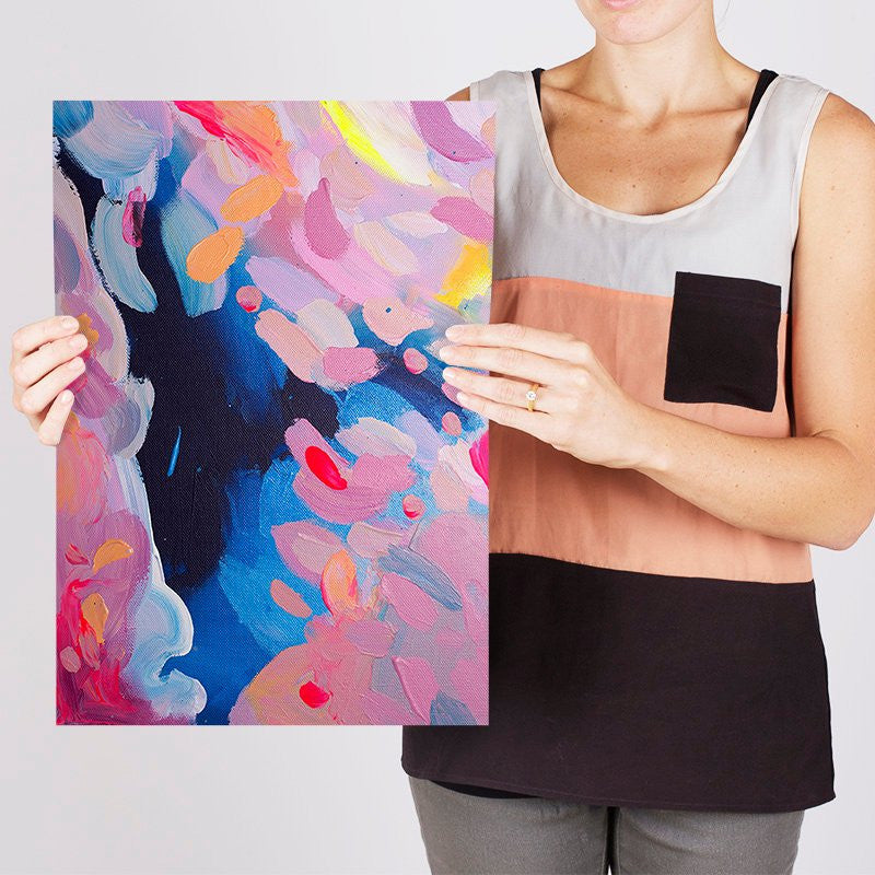 Shannon O'Neill Contemporary Australian Artist - modern abstract painting- A3 art print - Day 1