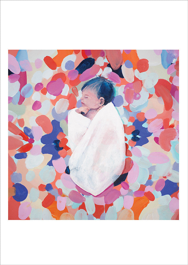 Shannon O'Neill Contemporary Australian artist, art print of painting 'Baby Jake'