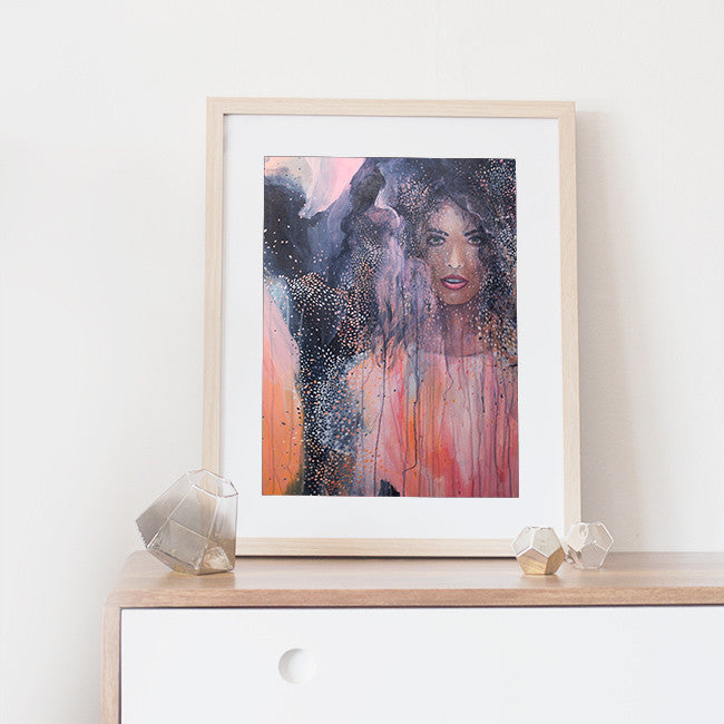 'Ava' framed A3 art print of Shannon O'Neills original acrylic painting
