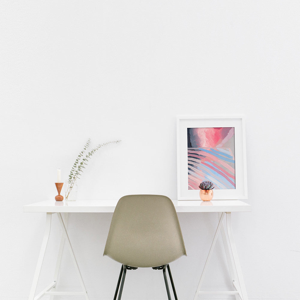 Shannon O'Neill Contemporary Australian Artist - modern abstract painting- A3 framed art print - August abstract 3