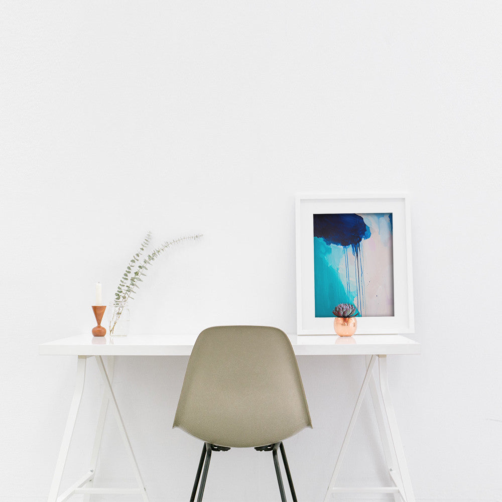 Shannon O'Neill Contemporary Australian Artist - modern abstract painting- A3 framed art print desk