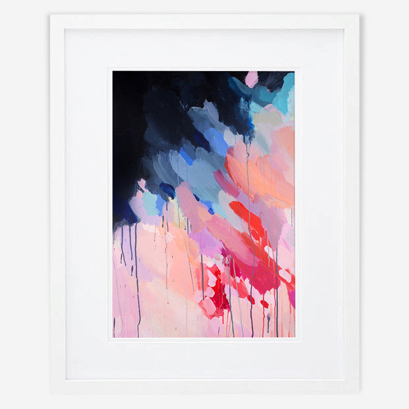 Shannon O'Neill Contemporary Australian Artist - bright colourful modern abstract painting- A3 framed art print - Evie