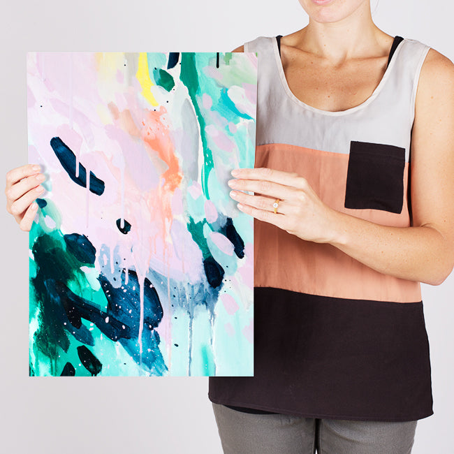 Angela 2, A3 affordable abstract painting art print, by contemporary Australian artist Shannon O'Neill