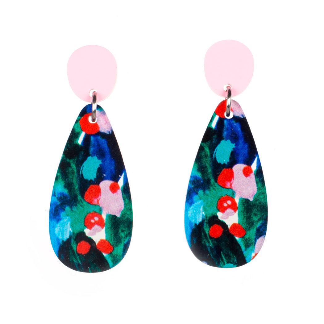 Statement gloss art earring