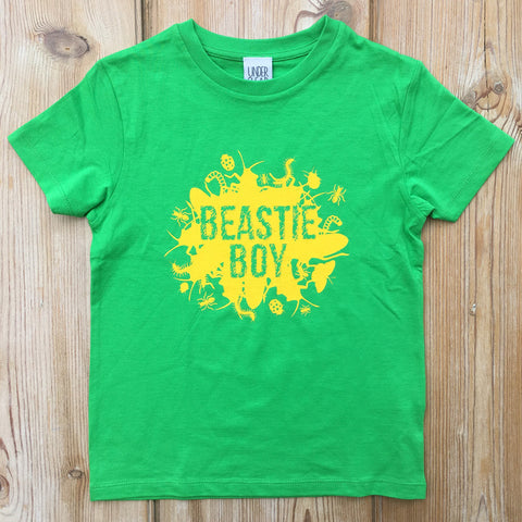 Beastie Boy T-shirt green/yellow