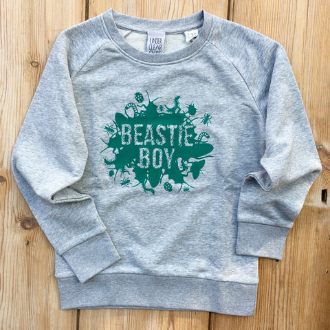 Beastie Boy Sweatshirt  grey/green