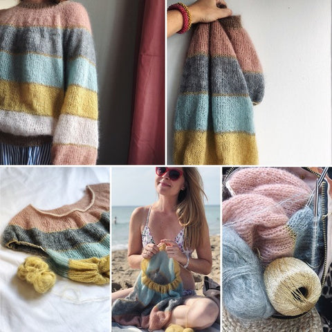 Fluffy fluffy sweater knitted by plummum