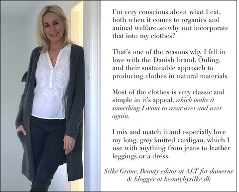 Silke Grane, beautybysilke.dk statement about Önling and her favorite items