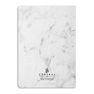 Central 23 - Marble Notebook - A5 Journal - 190 Ruled Pages - Thick 12mm Spine - Pretty Notepad for Women - Cute Gifts for Girls - Comes with Fun Stickers