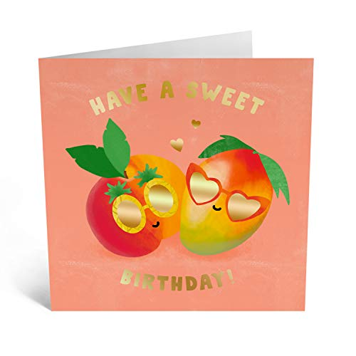 Central 23 - Pretty Birthday Card for Her - 'Have a Sweet Birthday' - for Women - Comes with Fun Stickers