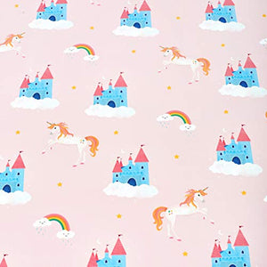 Central 23 - Birthday Wrapping Paper - Pink Unicorn & Rainbow - 6 Gift Wrap Sheets for Girls - New Baby - Magical Giftwrap - Recyclable
