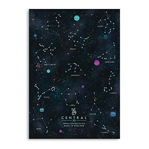 Central 23 - A5 Notebook - Journal for Women- Starsigns - Zodiac - Horoscope - 120 Ruled Pages - Notepad