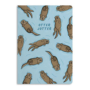 Central 23 - Journal A5 - Notebook - 'Otter Jotter' - 190 Lined Pages - Thick 12mm Spine - Ruled Paper - Comes with Cute Stickers